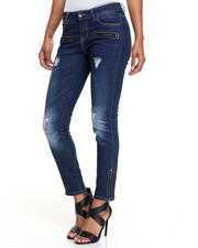 Fashion Lab - Destructed Zip Trim Skinny Jean