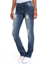 Fashion Lab - Destructed Flare Bootcut Jean
