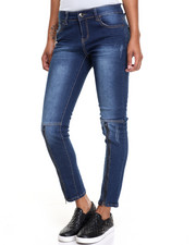 Fashion Lab - Zip Knee Distressed Skinny Jean
