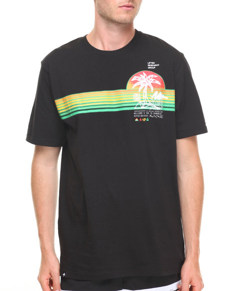Lrg Men Welcome To Paradise T-Shirt Black Medium