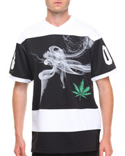 Basic Essentials - Herb Smoke Tricot Mesh V - Neck S/S Tee