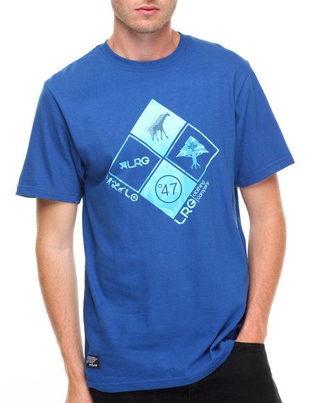 Lrg Men Clustered Front T-Shirt Blue Large