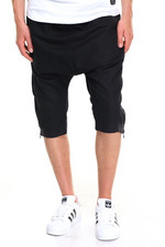 Men - Linen Side Zipper Shorts