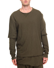 Men - DBL Layer L/S Gauze Tee