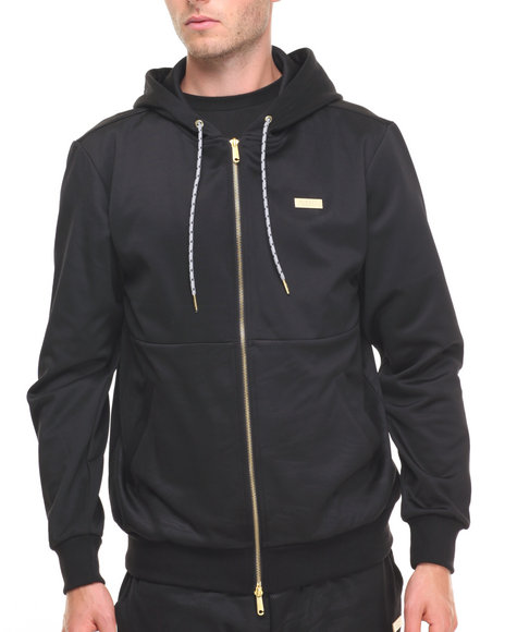 Crooks & Castles Men Spotter Zip Hooded Jacket Black Small