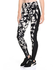 Leggings - Cracked Geo Print Zip Back Pocket Performance Legging
