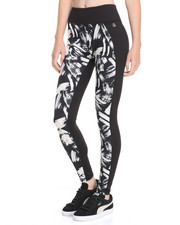 DRJ Performance Shoppe - Brush Strokes Print Mesh Back Panel Performance Legging