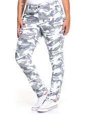 Basic Essentials - Camo Print Skinny Jean (Plus)