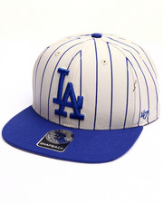 Men - Los Angeles Dodgers Pinstripe '47 CAPTAIN Snapback Cap