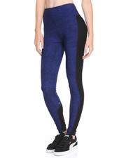 Leggings - Marble Print Zip Back Pocket Performance Legging