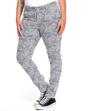 Women - Bandage Print Skinny Jean