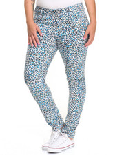 Plus Size - Cheetah Print Skinny Jean (Plus)