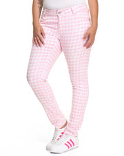 Basic Essentials - Houndstooth Print Skinny Jean (Plus)