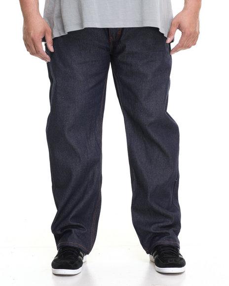 Rocawear Men R-Flap Jeans (B&T) Navy 44x34