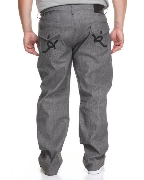 Rocawear Men R-Flap Jeans (B&T) Black 46x32