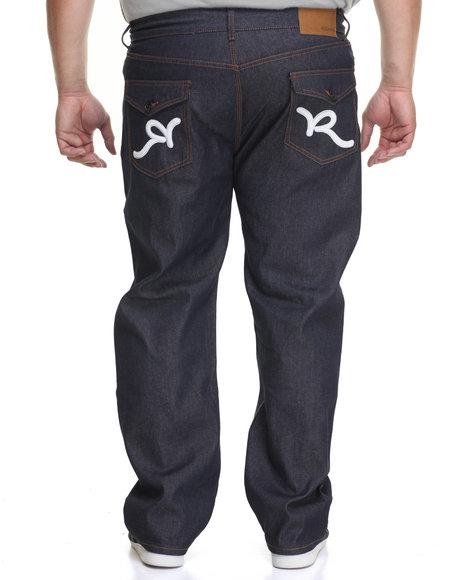 Rocawear Men R-Flap Jeans (B&T) White 50x32