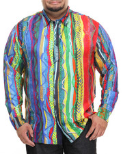 Shirts - COOGI SWEATER - PRINT SILK BUTTON - DOWN (B&T)