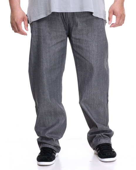 Rocawear Men Volume R-Script Jeans (B&T) Grey 50x32
