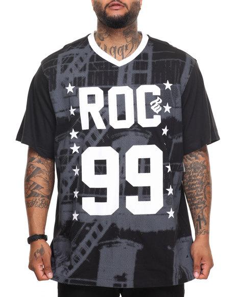 Rocawear Men Escape S/S Knit Tee (B&T) Black 5XLB