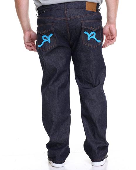 Rocawear Men R-Flap Jeans (B&T) Blue 48x32