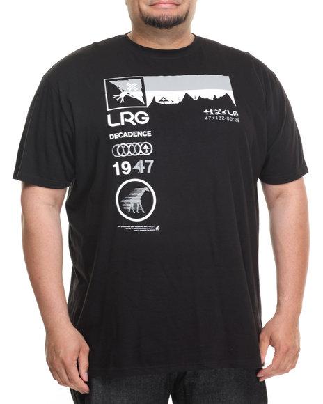 Lrg Men Decadence T-Shirt (B&T) Black 5X-Large