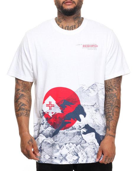 Lrg Men Elevation Incline T-Shirt (B&T) White 3X-Large