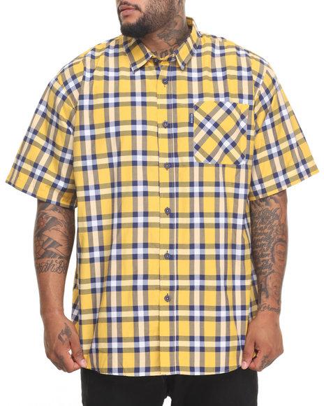 Rocawear Men Pattern 02 S/S Button-Down (B&T) Gold 6XLB