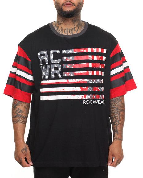 Rocawear Men Liberty Roc S/S Crew Tee Black 3XLB