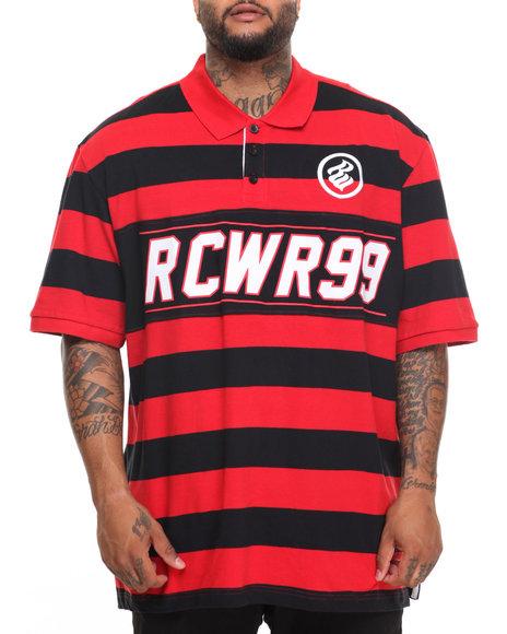 Rocawear Men 99 Club S/S Polo (B&T) Red 6XLB