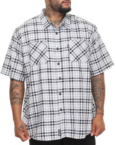 Rocawear Men Pattern 01 S/S Button-Down (B&T) Black 4XLB