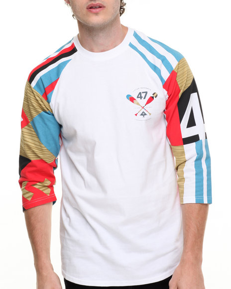 Lrg Men Paddle Team Raglan White XX-Large