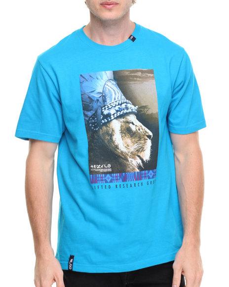 Lrg Men King Of Kings T-Shirt Blue Small