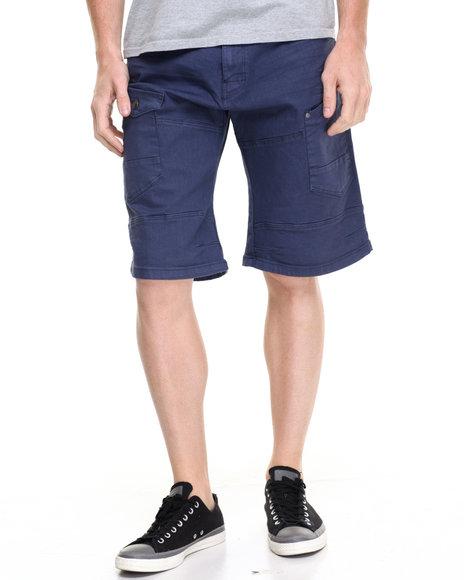 Akademiks Men Luke Slub Short Navy 34