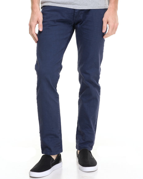 Akademiks Men Rusit Slub Denim Jeans Dark Blue 34x34