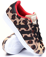 Girls - Superstar J Leopard Sneakers (3.5-7)