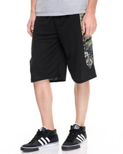 Basic Essentials - Basic Camo - Panel Mesh Shorts
