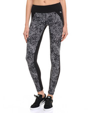 Bottoms - Brush Strokes Print Mesh Back Panel Performance Legging