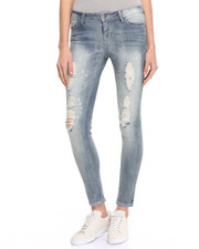 Jeans - Destructed Paint Splatter Skinny Jean