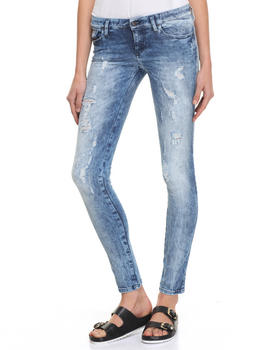 Women - SKINZEE LOW ACID WASH DISTRESSED JEANS