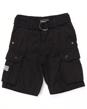Bottoms - BELTED CARGO SHORTS (2T-4T)