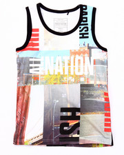 Boys - SUBLIMATED CITYSCAPE TANK (8-20)