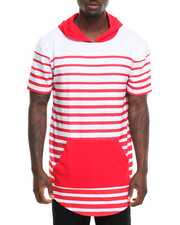 Shirts - Striped S/S Hoodie