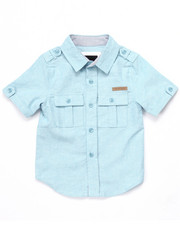 Tops - S/S SOLID WOVEN (2T-4T)