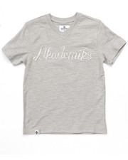 Boys - SLUB V-NECK LOGO TEE (8-20)