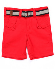 Bottoms - BELTED HERRINGBONE SHORTS (2T-4T)
