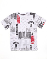 T-Shirts - ALL OVER PRINT CITYSCAPE TEE (8-20)