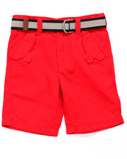 Bottoms - BELTED HERRINGBONE SHORTS (4-7)