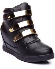 Women - Sweet 13 Chocolate Wedge Sneaker w/Bar Detail