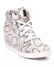 Fashion Lab - Allie Faux Snake Skin Wedge Sneaker