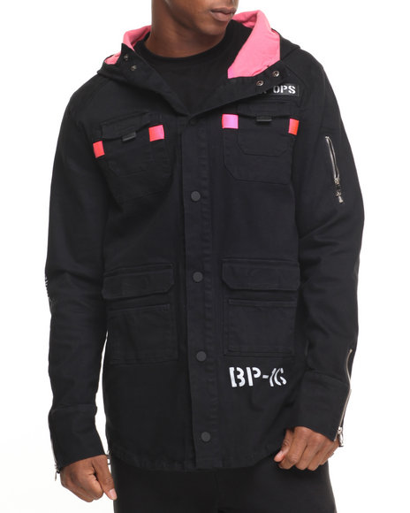 Buy B P Fishtail Hooded Jacket Men's Outerwear from Black ...